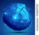 textured plastic deformed flash ... | Shutterstock .eps vector #210649762