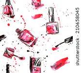 watercolor seamless pattern... | Shutterstock .eps vector #210658045