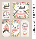 greeting card romantic labels... | Shutterstock .eps vector #210675046