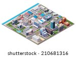 vector isometric industrial and ... | Shutterstock .eps vector #210681316