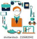 flat design concept icons of... | Shutterstock .eps vector #210682042