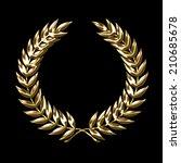Golden Laurel Wreath Symbol...