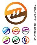 "design vector logo template. ""m""... | Shutterstock .eps vector #210689062"
