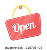 vector open sign flat icon