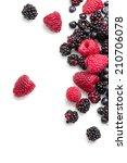 mix of fresh berries | Shutterstock . vector #210706078