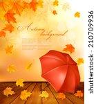 Retro Autumn Background With...