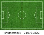 top view of soccer field or... | Shutterstock . vector #210712822