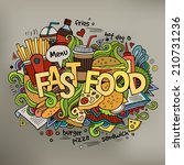 fast food hand lettering and... | Shutterstock .eps vector #210731236
