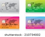 credit cards | Shutterstock .eps vector #210734002