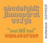 retro alphabet small letters 3d ... | Shutterstock .eps vector #210745225