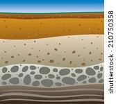 soil layers   Shutterstock .eps vector #210750358