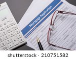 mortgage documents | Shutterstock . vector #210751582