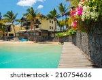 tropical villa houses on... | Shutterstock . vector #210754636