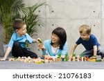 mother and two children and... | Shutterstock . vector #21076183
