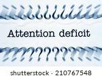 attention deficit | Shutterstock . vector #210767548