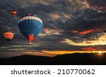 colorful hot air balloon is... | Shutterstock . vector #210770062