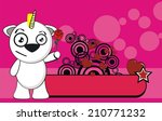 unicorn baby cute cartoon... | Shutterstock .eps vector #210771232
