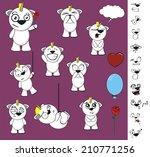 unicorn baby cute cartoon set... | Shutterstock .eps vector #210771256