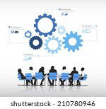vector of business people with... | Shutterstock .eps vector #210780946