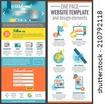 one page web site template for...