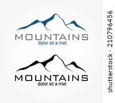 mountains abstract illustration | Shutterstock .eps vector #210796456