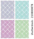 colorful diamond pattern set  ... | Shutterstock .eps vector #210800878