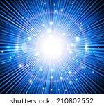 blue rays. | Shutterstock .eps vector #210802552