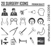 20 surgery icons | Shutterstock .eps vector #210812008