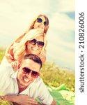 summer holidays  family  child... | Shutterstock . vector #210826006