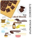 chewy brownie | Shutterstock .eps vector #210833872