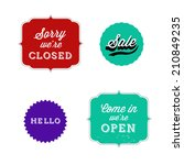set of retro bakery labels ... | Shutterstock .eps vector #210849235