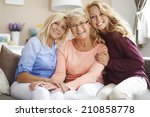 meeting with the close family... | Shutterstock . vector #210858778