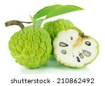 Sugar Apple With Leaves...