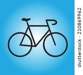 bicycle icon | Shutterstock .eps vector #210869962