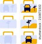 vector icons of travel case | Shutterstock .eps vector #210872332