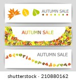 colorful autumn sale banners... | Shutterstock .eps vector #210880162