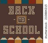 back to school seamless pattern ...   Shutterstock .eps vector #210884215