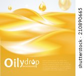 oily drop background | Shutterstock .eps vector #210890665