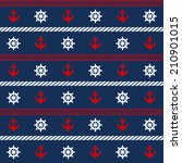 seamless pattern with nautical... | Shutterstock .eps vector #210901015