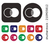 intersection icon | Shutterstock .eps vector #210905812