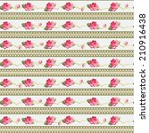 vintage vector seamless floral... | Shutterstock .eps vector #210916438