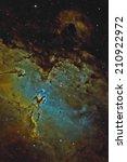 The Eagle Nebula In Narrow Band