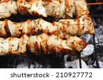 Постер, плакат: healthy shish kebab