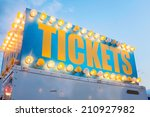 Vintage Ticket Booth Sign At...