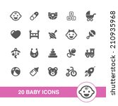 baby icons set. | Shutterstock .eps vector #210935968
