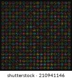 400 universal thin line colored ... | Shutterstock .eps vector #210941146