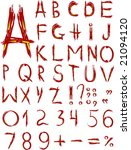 original red font isolated on a ... | Shutterstock . vector #21094120