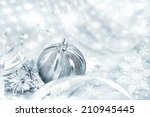 Silver Christmas Bauble On...