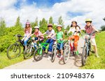 row of kids diversity in... | Shutterstock . vector #210948376