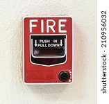 fire alarm switch | Shutterstock . vector #210956032